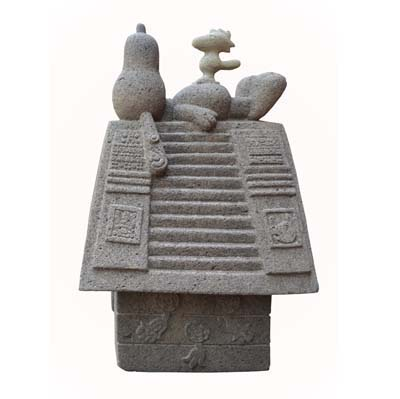 "Nadin Ospina, ""Casa de Xolotl,"" 2005, stone, 26.8x16.5x15.35 in,"