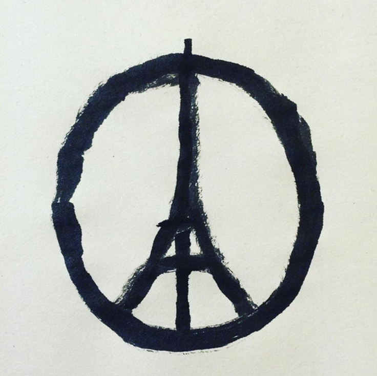 """Peace for Paris"" by Jean Jullien"