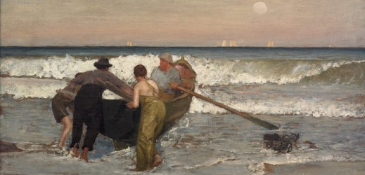 Becoming Tiffany_Pushing Off the Boat, Sea Bright, New Jersey, 1887 by Louis Comfort Tiffany_ Nassau Museum