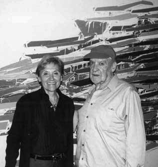 Artist Robert Goodnough with Janet Langsam