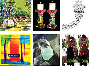 Featured artwork by local artists at ArtsWestchester's Handmade Holiday Sale & Exhibition