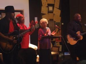 Guy Davis, Nora Davis Day, Ruby Dee, and Wali Ali Muhammad